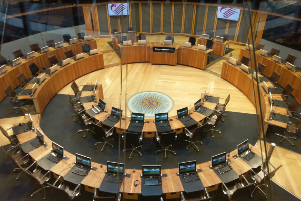 Welsh Assembly debating chamber
