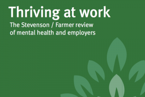 Detail from Thriving at work report front cover