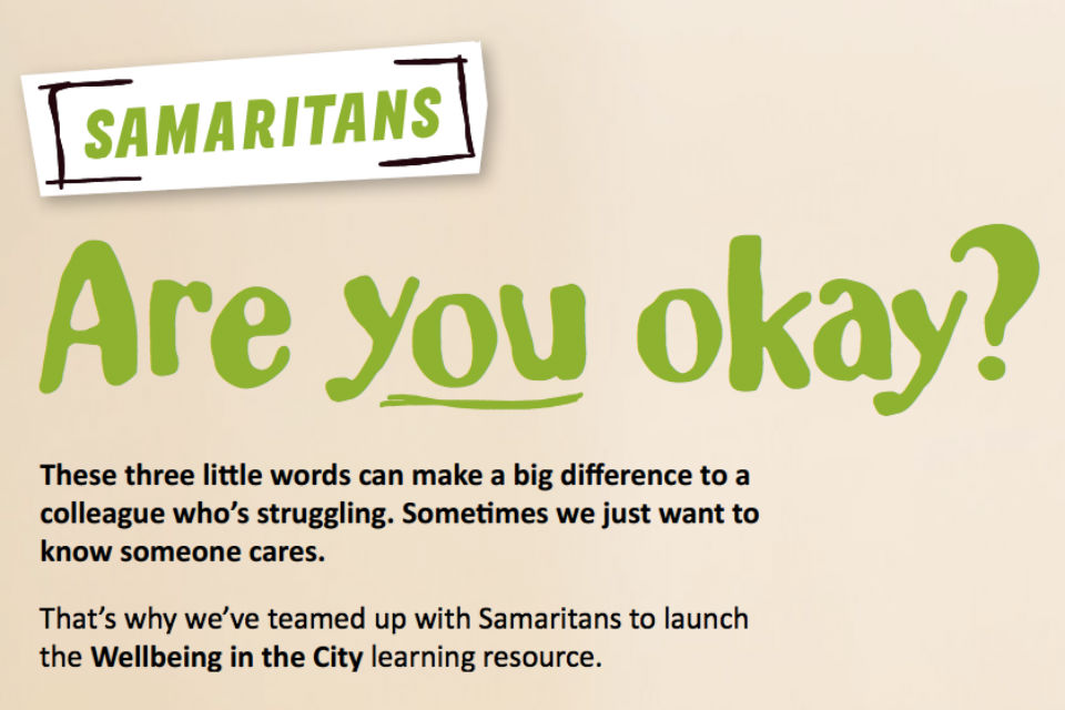 Samaritans 'Are you okay?' graphic
