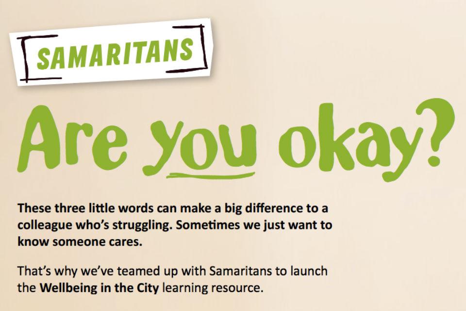 Samaritans 'Are you okay?' graphic