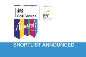 Civil Service Awards 2018 shortlist announcement graphic