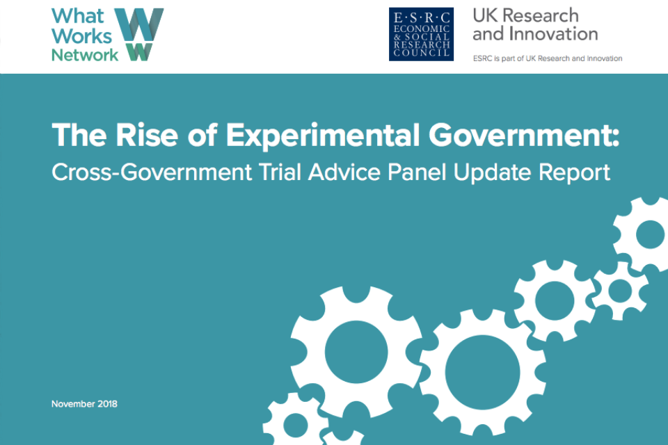 Front cover of Rise of Experimentation in Government report front cover