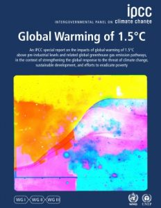 Front cover of the IPCC Global Warming report