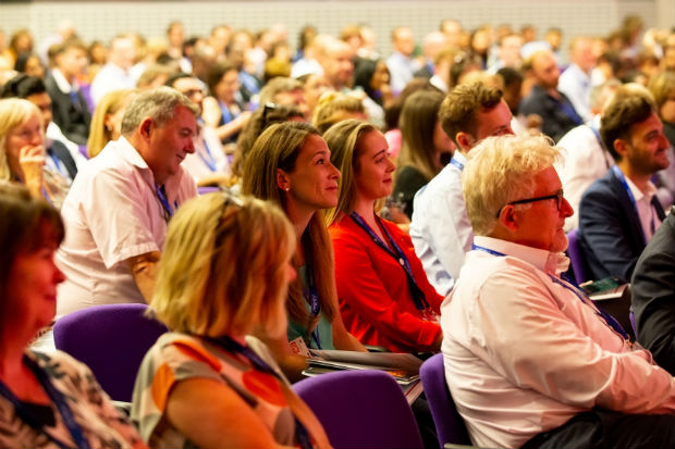 Audience of men and women at a Civil Service live event in London 2018.
