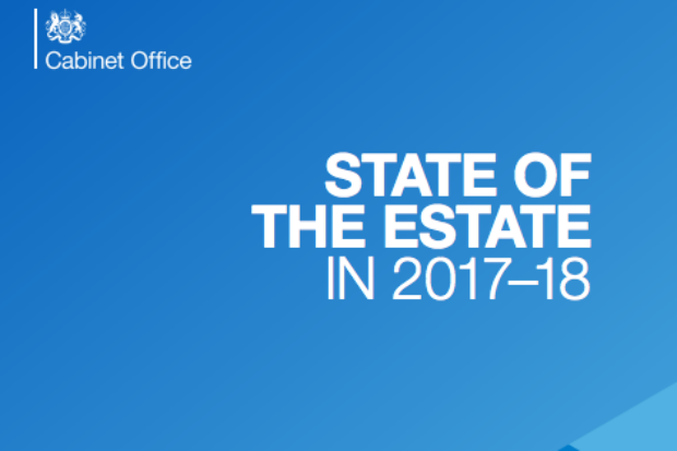 Detail from the front cover of the 'State of the Estate in 2017-18' report