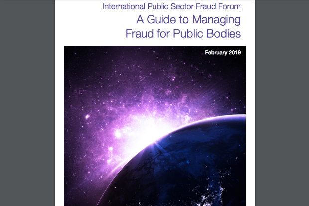 Detail from the front cover of A Guide to Managing Fraud for Public Bodies