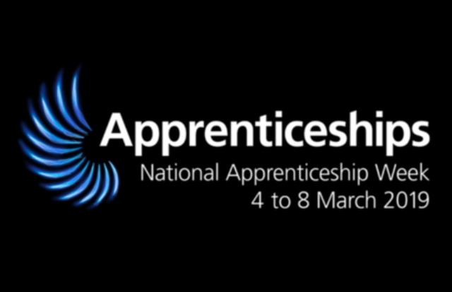 Logo of National Apprenticeship Week 4 to 8 March 2019