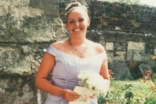Photo of Michelle Anderson in bridal dress
