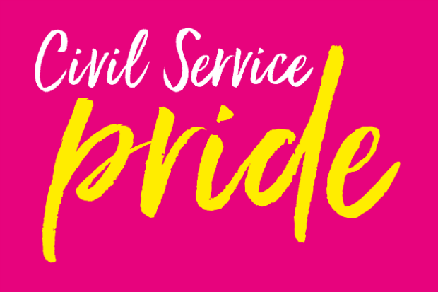 Logo of Civil Service for the Pride celebration of LGBT+I communities
