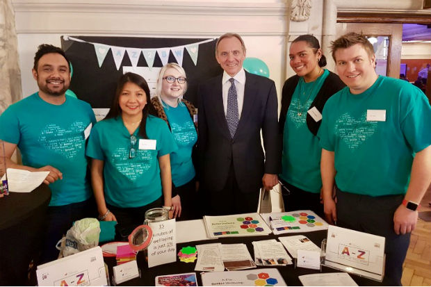 Chief Executive of the Civil Service and Cabinet Office Permanent Secretary John Manzoni with members of Team Chaffinch