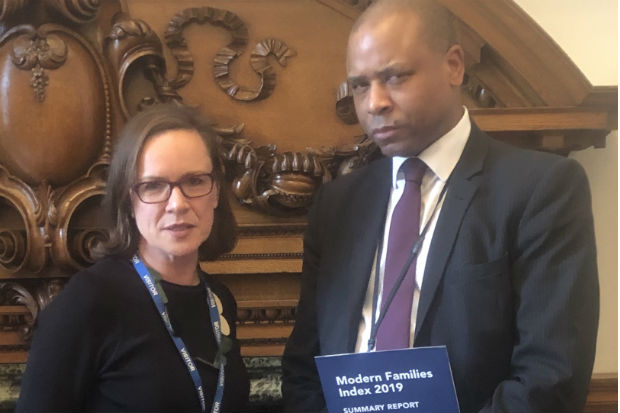 Brian Stanislas with Jane Van Zyl, Chief Executive of Working Families