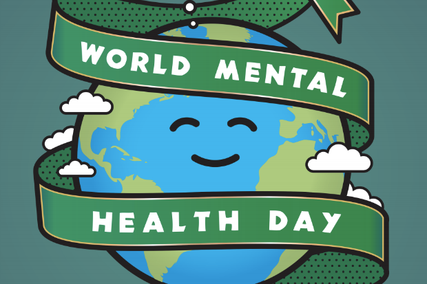 Detail from the World Mental Health Day 2019 logo