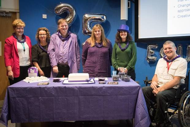 Colleagues from the Health and Safety Executive and the Office for Nuclear Regulation celebrating International Day of Disable Persons and the 25th anniversary of the Equal network for disabled staff