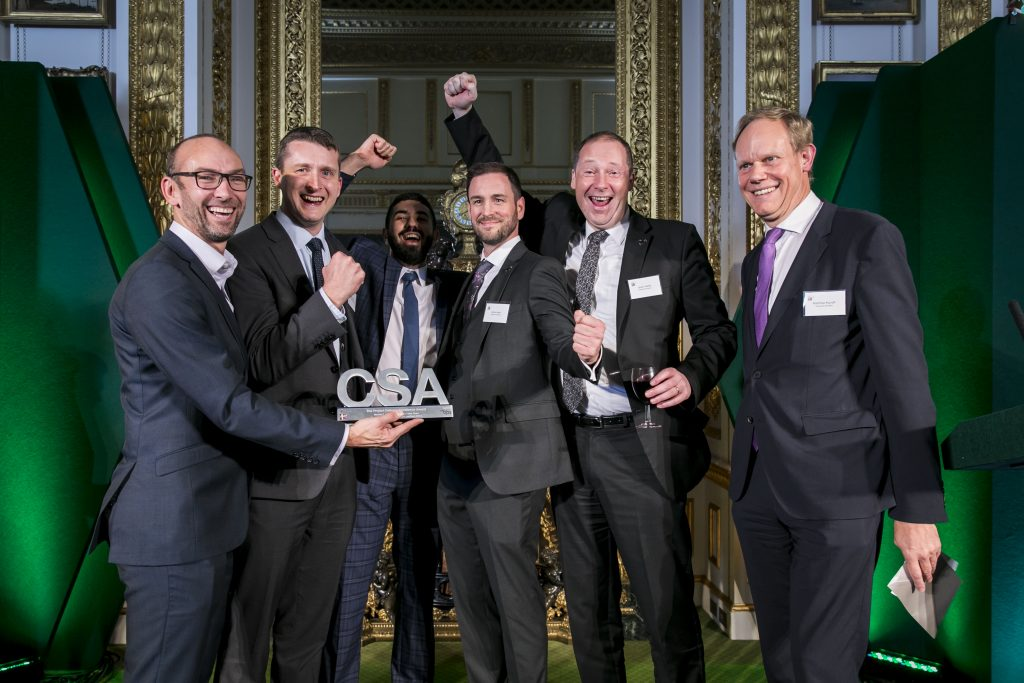The Defra winners of the Project Delivery Excellence Award, with award presenter Matthew Rycroft, Permanent Secretary for the Department for International Development