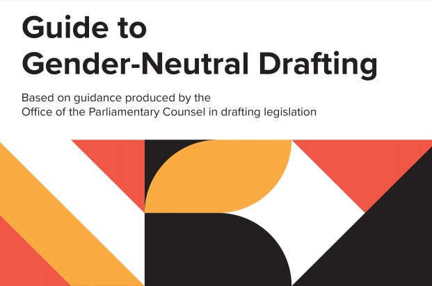 Detail from front cover of Guide to Gender-Neutral Drafting