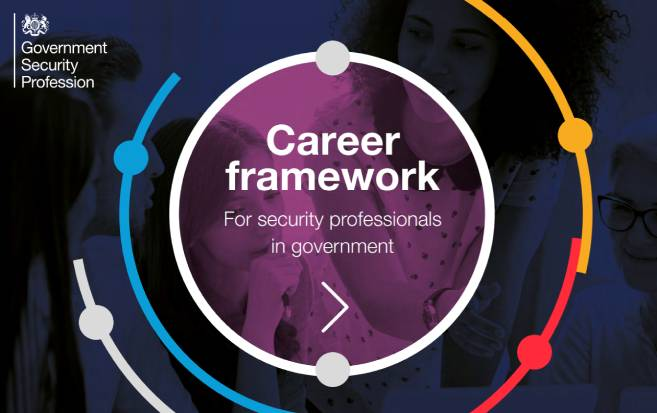 Detail from front cover of Government Security Profession leaflet, Careers for the curious