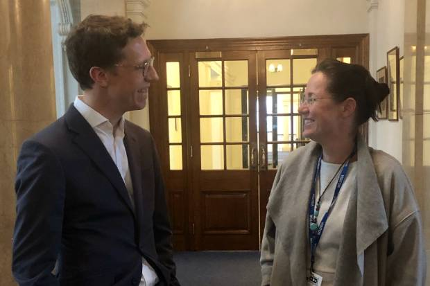 Department for International Trade Job share partners Ian Shepherd and Jenny Ashby