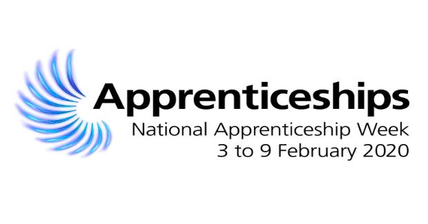 Logo of National Apprenticeship Week 3 to 9 February 2020