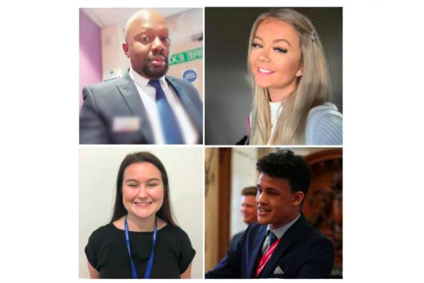 GCS former and current apprentices Charles Odunuga, Maya Harnett, Jared Blake and Lauren Brown