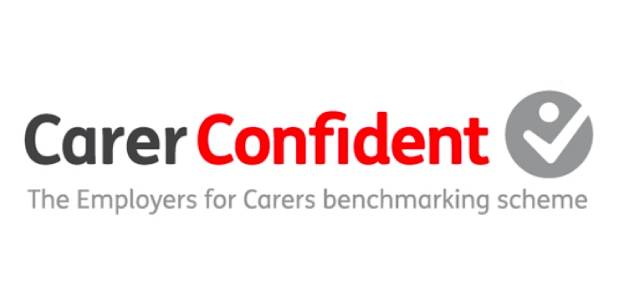 Logo of the Carer Confident scheme for employers