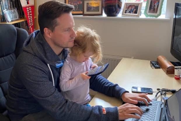 Michael Wiggin with his daughter Ezri