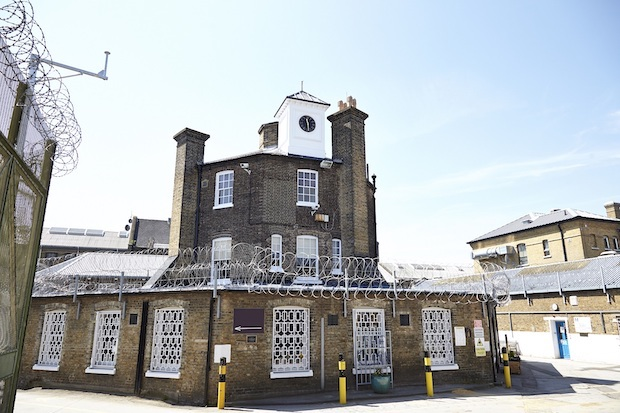 External shot of The Clink Restaurant at HMP Brixton which used to be the Governor's house dating back to 1811.