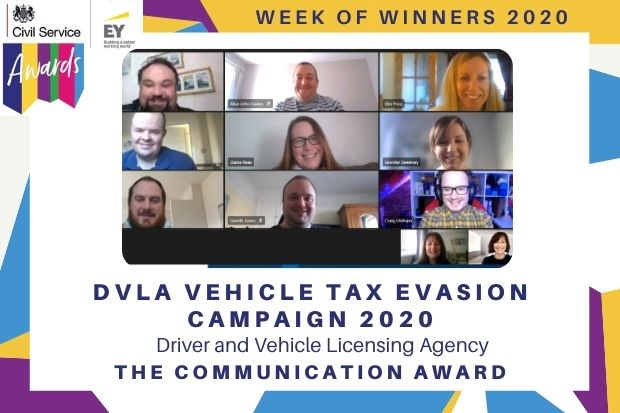 CS Awards 2020, Communication Award, DVLA
