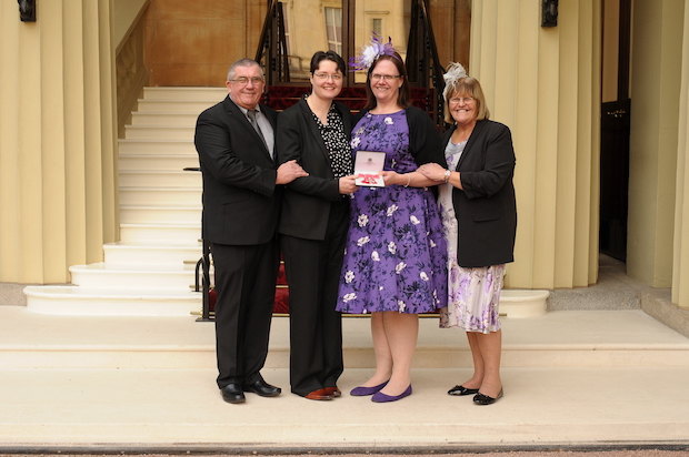 Day to remember Keela Shackell-Smith MBE with proud family.