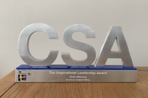 Civil Service Award Winner Chris Atkinson topped the category for Inspirational Leadership