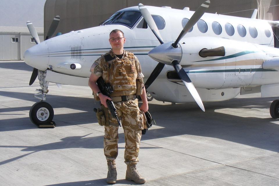 Civil Servant and Naval Reservist, James Waller serving in Afghanistan