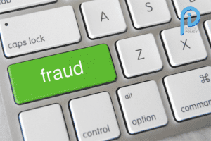 Fraud image of a keyboard with 'fraud' on a key