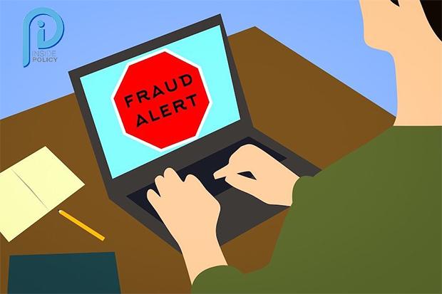 Image warning IT user of fraud alert