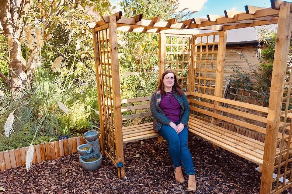Image of Katie James-Manning on her memorial bench